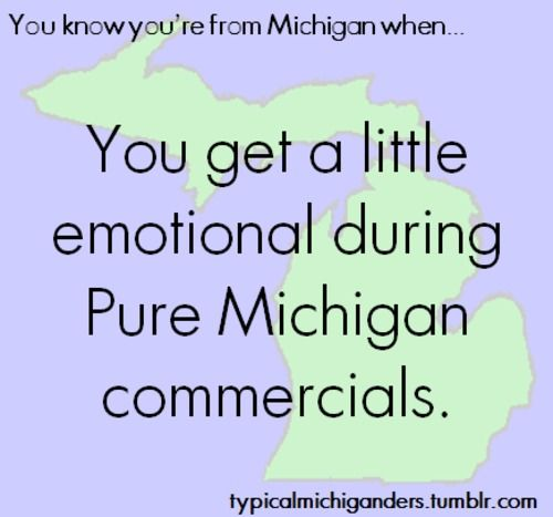 You Know You're From Michigan When... =)