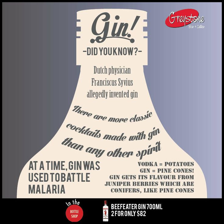 Gin Gin Gin- Did you know?  << May Deals >>  2 X Ballantines Scotch or BEEFEATER GIN 700ML for only $82 save $9.90