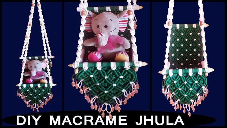 DIY Simple Macrame Jhula Wall Hanging | Macrame Wall Art