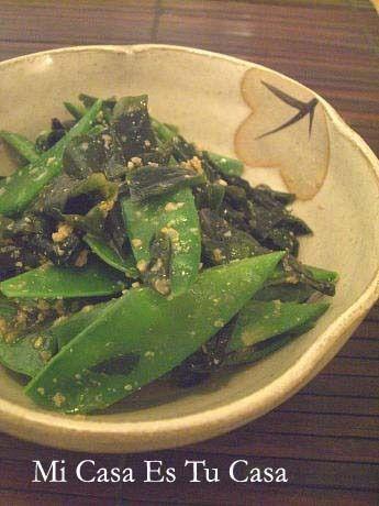 絹さやとわかめのごまマヨ和え by Omamamaさん | レシピブログ - 料理 ...