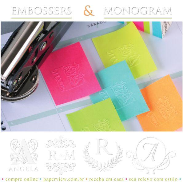 Compre online e receba em casa: paperview.com.br #embosser #papelariafina #papelariadeluxo #papelaria #relevoseco