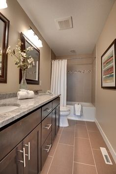 Narrow Long Bathroom Design Ideas, Pictures, Remodel, And Decor