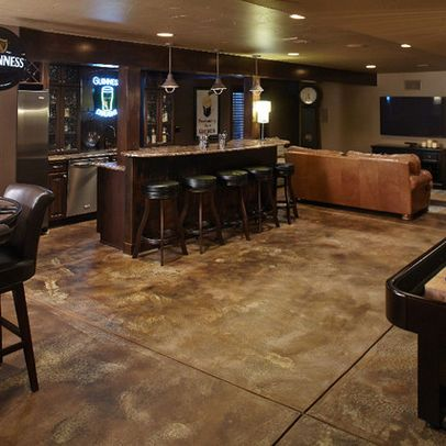 25 best ideas about stained cement floors on pinterest for Best way to clean concrete basement floor