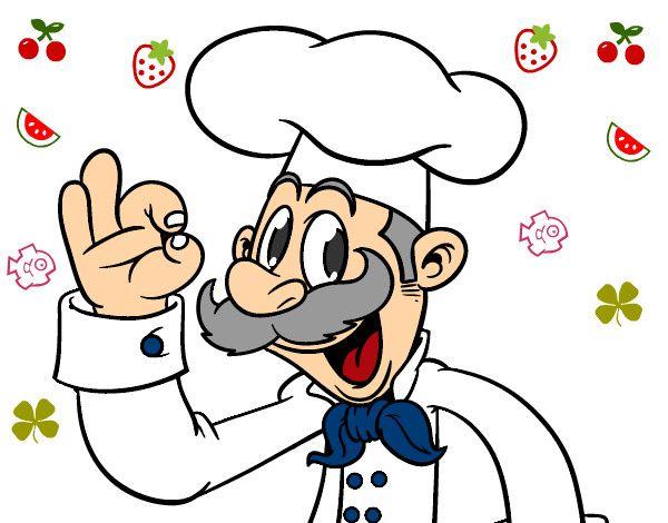 Dibujo de chef animado - Imagui