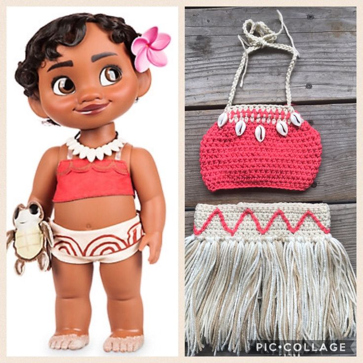 Disney's Baby Moana Outfit, Baby Moana Costume, First Birthday Moana Theme, Crochet Costume, Crochet Disney, Matching Sister Outfits by HiCoCrochet on Etsy https://www.etsy.com/listing/516120483/disneys-baby-moana-outfit-baby-moana