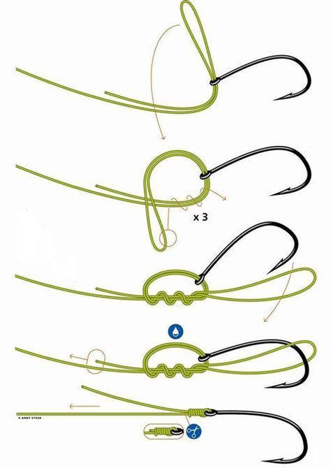 How to tie off a fishing hook