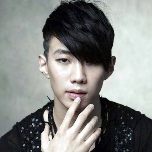 Dapper Haircuts For Asian Men - Fade with Angular Fringe