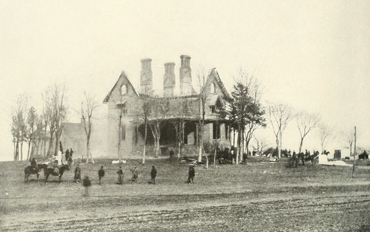 Burnside's headquarters at Phillips House during the battle.