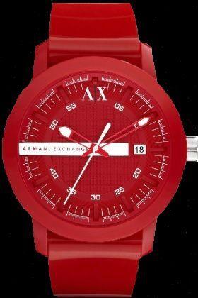 RELOJ ARMANI A/X RED limited edition.