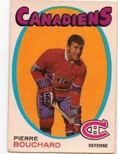 1971-72 O-Pee-Chee Pierre Bouchard hockey card. OPC #2 Montreal Canadiens