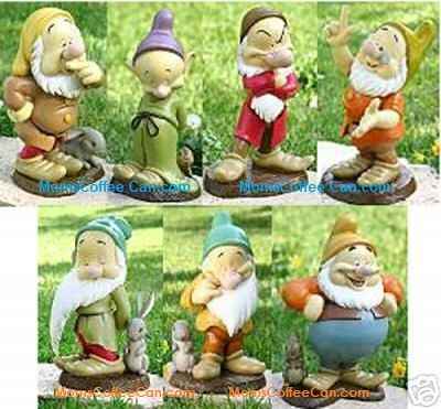 Disney Snow White And The Seven Dwarfs Garden Statues