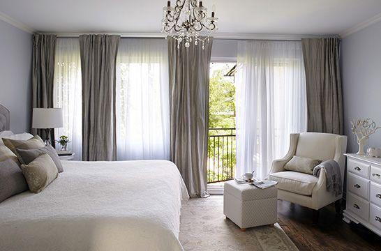 7- chambre principale élégante habillée de blanc