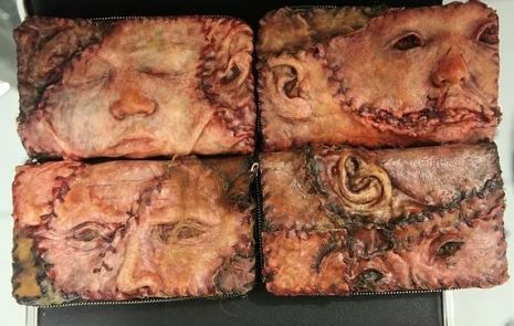 All-too-realistic serial killer jacket covered in latex skin, ears & human faces can now be yours! | Dangerous Minds