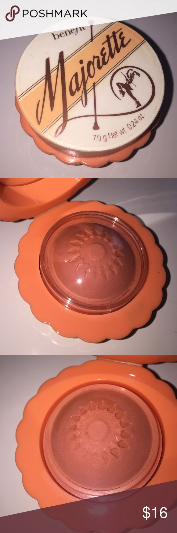 Benefit Majorette Cream-to-powder Blush Never used, only swatched, will be sanitized prior to shipping. This shade is gorgeous & is smells devine! Benefit Makeup Blush