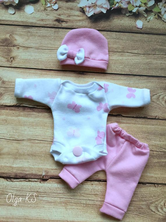 5 6 7 8 9 10 11 12 Sculpted Ooak Baby Doll Clothes Bodysuit Cap Pants Tiny Mini Reborn Baby Doll Clothes Reborn Baby Dolls Little Baby Girl