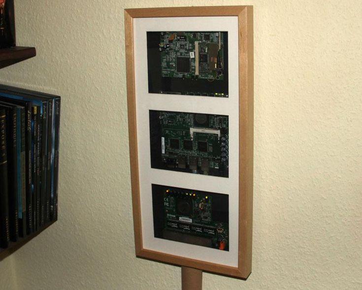 Ikea hack: router, switch y wlan dentro de un marco RIBBA