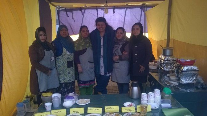 Seven single Afghan women have started a catering service called 'ILHAM', meaning positivity in the Dari language. (Photo Courtesy: Aditi Sabbarwal/ACCESS)