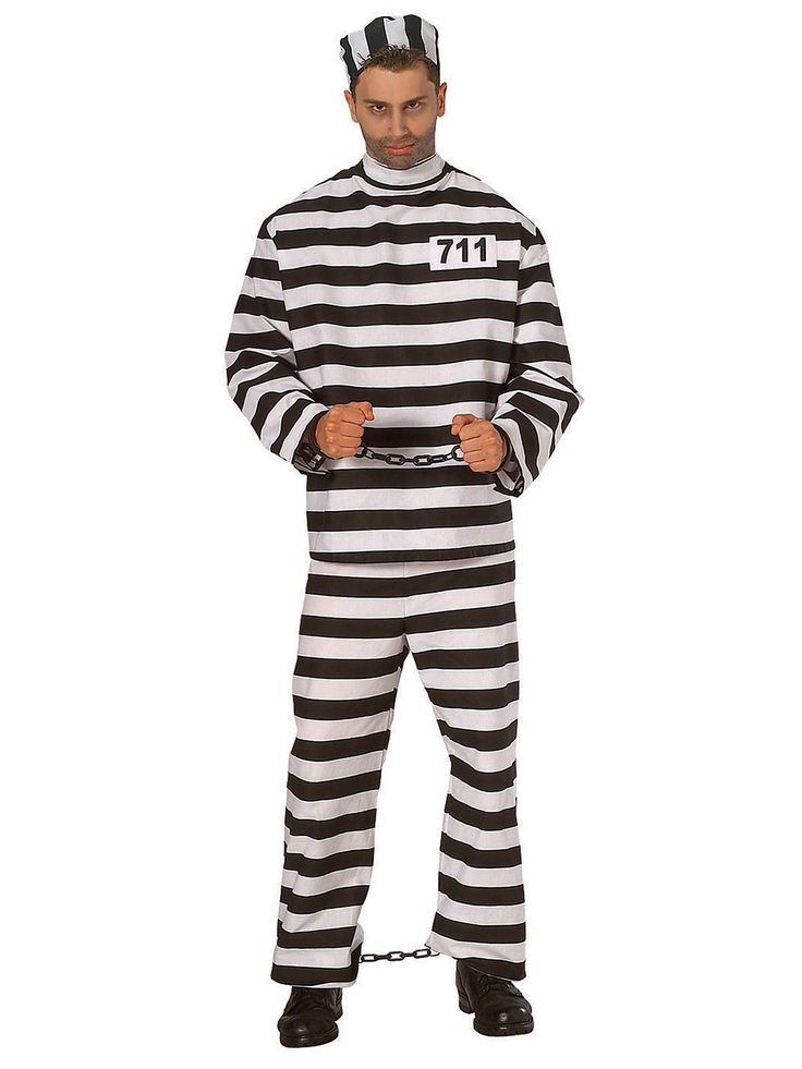 Prisoner Man Costume | Wholesale Convict Costumes for Men