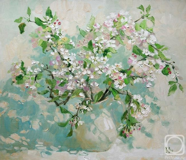 Maria Pavlova: Blossoming apple branches