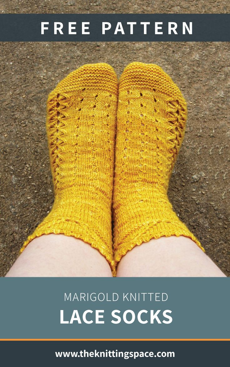 Marigold Knitted Lace Socks [FREE Knitting Pattern]