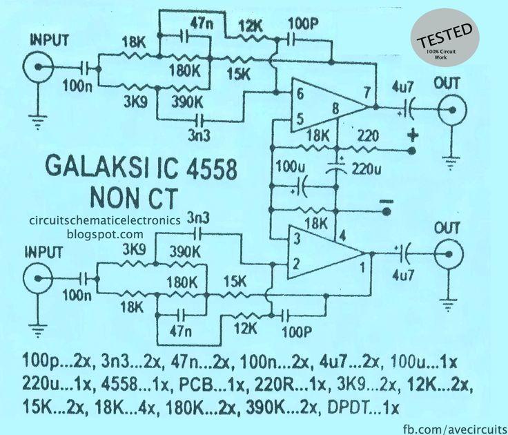 Ic 4558 Galaksi Circuit Ic4558 Circuit Circuit