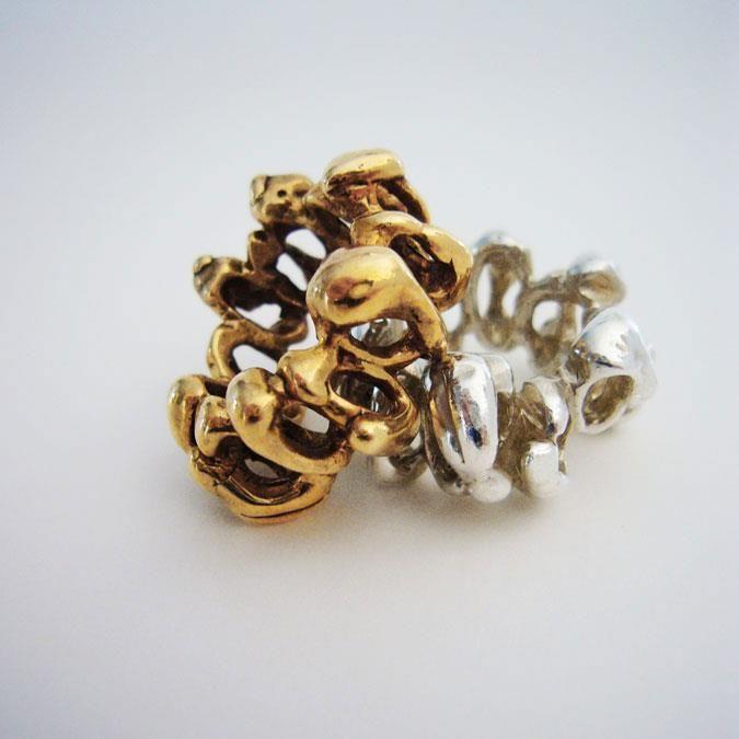 Martino & Mazzolini anelli in bronzo e argento.
