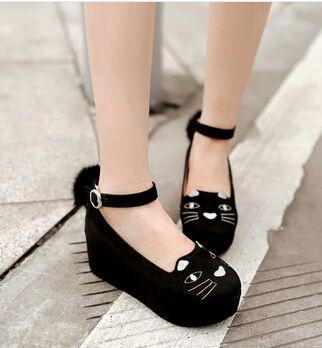 7 mulheres apartamentos cunhas de moda sapatos de couro Sexy PU bola leopardo preto sapatos de plataforma Flats em Sapato baixo de Sapatos no AliExpress.com | Alibaba Group