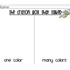 """The Crayon Box That Talked"" Activity: First Grade to the Core"