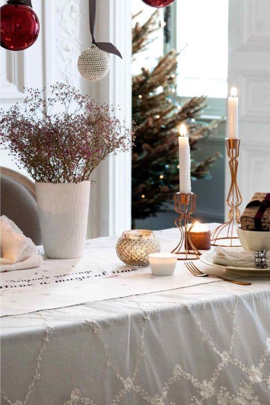 Navidad de tendencia en tonos cobrizos