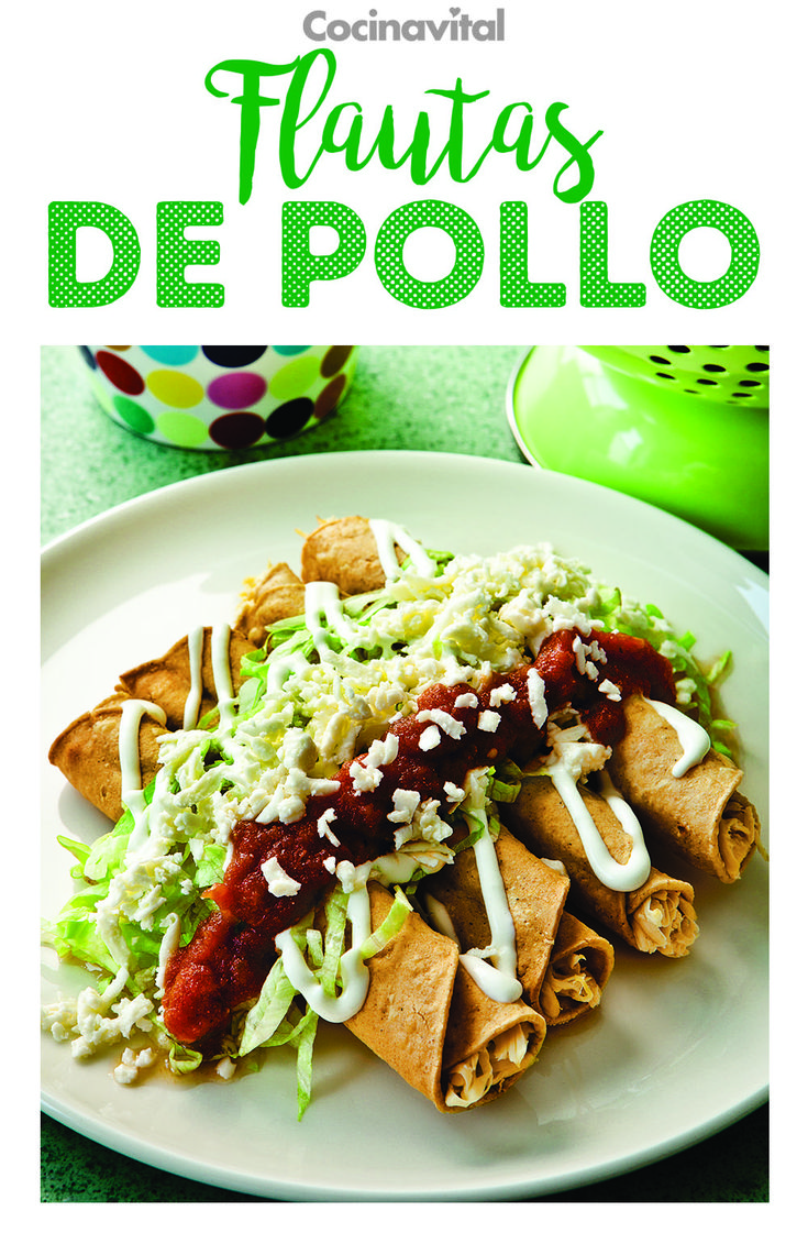 ¡Perfectas para la hora de la comida! Existen diferentes tacos dorados, pero nada más rico y tradicional que las flautas de pollo ¡Aquí está la receta! No puede faltar en tu recetario este clásico de la comida mexicana. #recetas #recetasmexicanas #recetastradicionales #cocinamexicana #comidamexicana #recetasconpollo #antojitos #mexicanrecipes Tacos Dorados, Quesadilla, Burritos, Ethnic Recipes, Mexico, Food, World, Healthy Lunches, Eating Clean