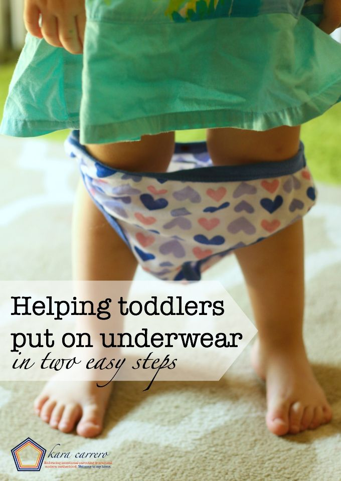 How to help your kids wear toddler underwear and put it on themselves the RIGHT way, every single time!