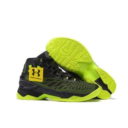 New Cheap 2017 Under Armour UA Curry Black Green Basketball Shoes On Sale