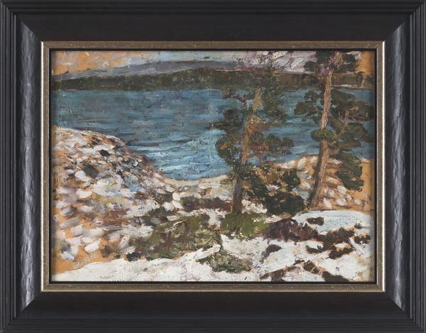 """Helmer Osslund - """"Tidig vinter"""" finns att köpa hos oss på Galleri Melefors / is available for purchase at Galleri Melefors #helmerosslund #osslund #helmer #art #swedish #artist #painting #oilpainting #interiordesign #design #decoration #home #blackframe #frame #nature #trees #sea #water #landscape #forsale #konst #målning #tavla #oljemålning #olja #svartram #svart #ram #svenskkonstnär #konstnär #svensk #natur #fåglar #vatten #sverige #landskap #tillsalu #gallerimelefors #melefors"""
