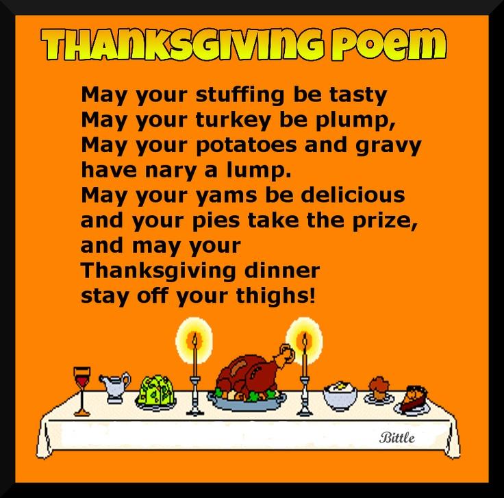 Thanksgiving Poem Thanksgivng Pinterest Thanksgiving