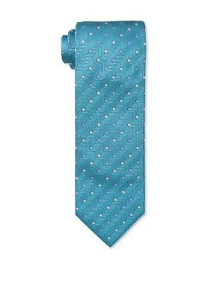 61% OFF Massimo Bizzocchi Men's Herringbone Squares Tie, Turquoise