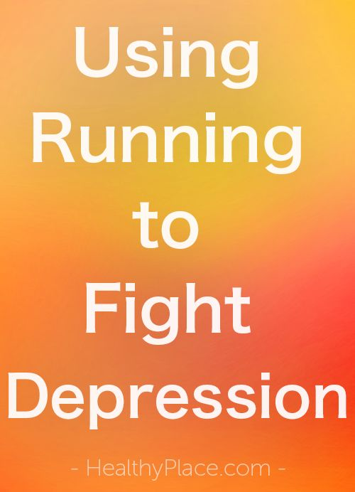 """""""Running can help fight depression. Find out how I've incorporated running into my arsenal of depression-fighting tools."""" www.HealthyPlace.com"""