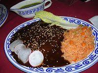 enchilada de mole. receta de mexico