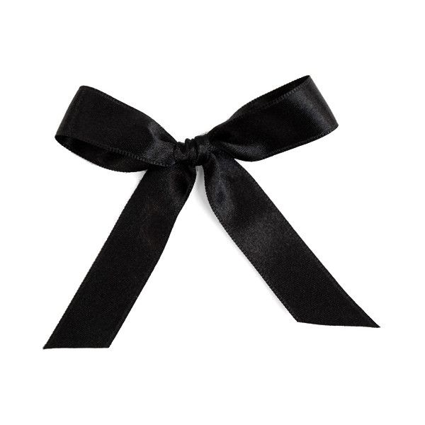 Jet Satin 15mm Ribbon - $1.00 : Bocage New York, New and vintage... ($1) ❤ liked on Polyvore
