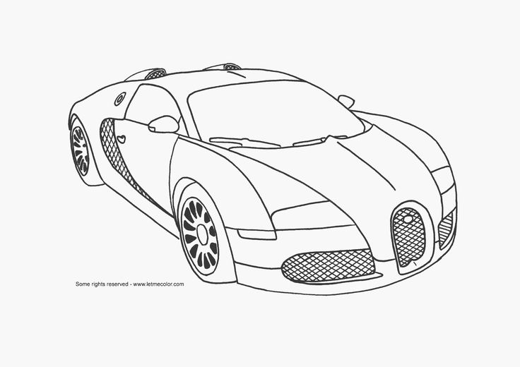 bugatti drawings in pencil Supercar coloring page