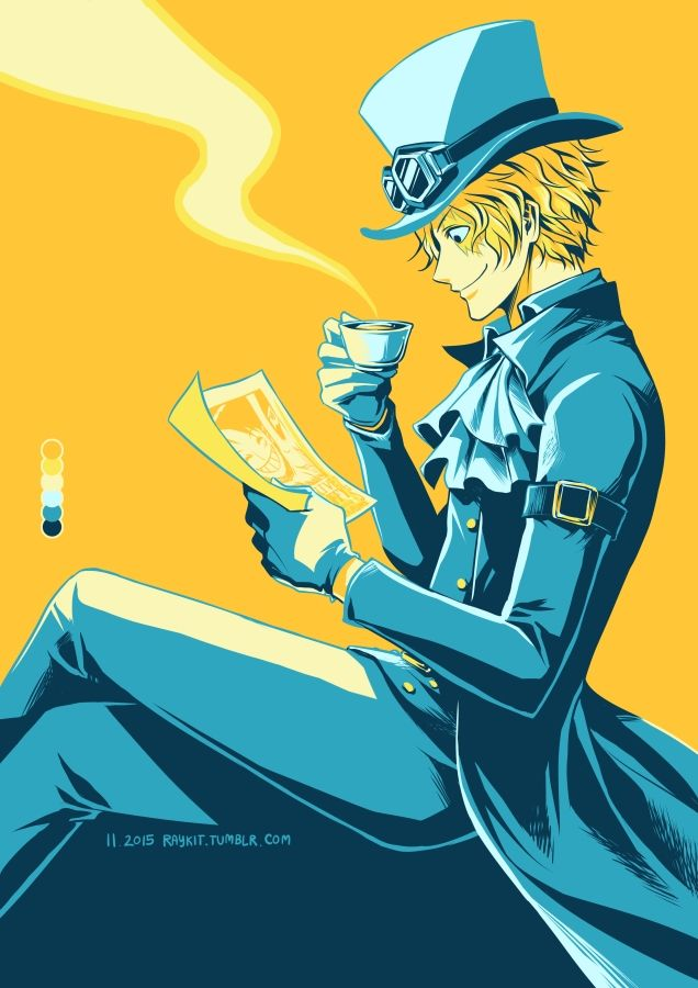 Coffee and Wanted Poster/ Sabo/One piece   Sabo is one of my favourite now, and I suppose it's the same for all OP fans!