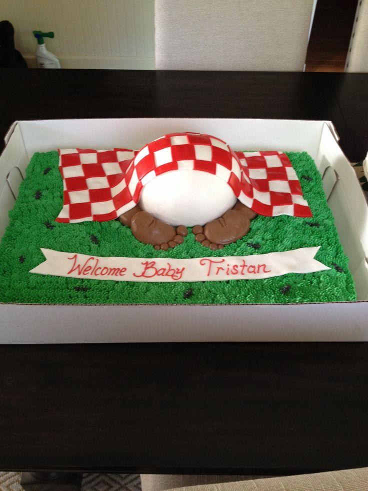 Backyard baby q cake #Oakmontbakery