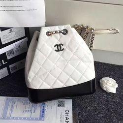 Chanel Gabrielle Backpack White and Black A94485  9b71edb8d160f