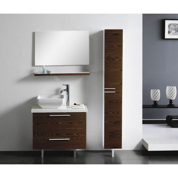 Moderna With Side Storage and Vessel Sink | Best Value Bathroom Furniture in Ireland.  Contemporary standing vanity unit with vessel sink and side cabinet.  Perfect for a medium to large sized bathroom.      Measurements  Description:  Dimension (MM): Main Cabinet800*440*820 Mirror800*20*500 Shelf800*150*30 Side Cabinet250*250*1790