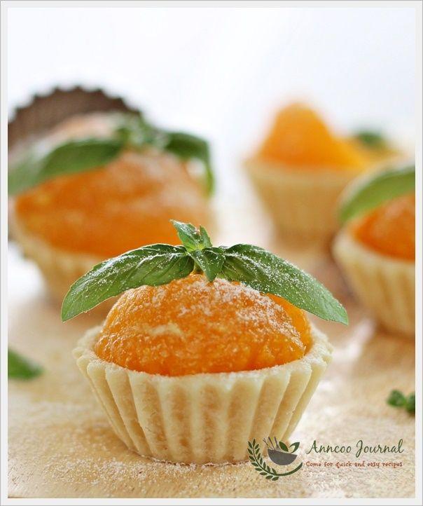 Mandarin Orange Tarts - so cute!  Make GF and w/ low carb sweetener.  Has eggs.