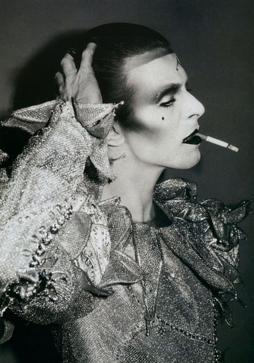 "David Bowie. Let me tell you lot, choosing just one picture of Mr. Bowie was HARD! He is just so captivating and interesting in each of his pictures. I chose this still from the ""Ashes to Ashes"" video,"