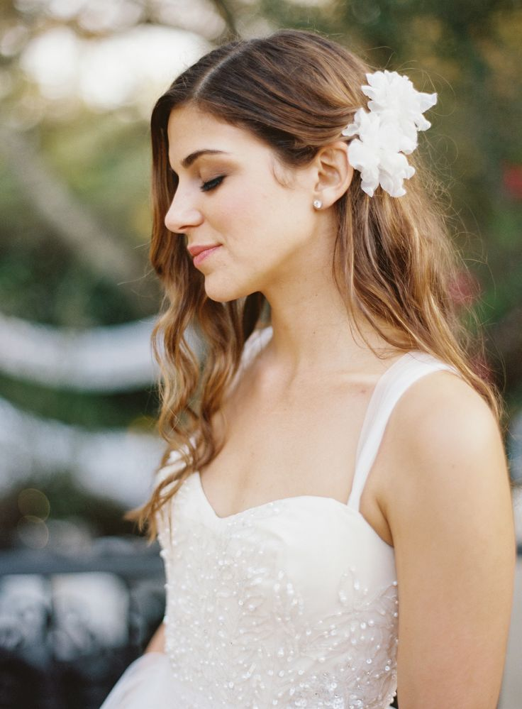 View entire slideshow: 100 Drop-Dead-Gorgeous Hairstyles to Inspire Your Big Day 'Do on http://www.stylemepretty.com/collection/2529/