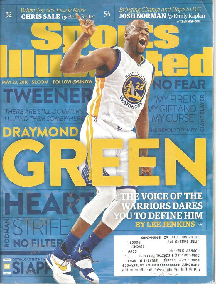Draymond Green Warriors Basketball Sports llustrated Magazine May 23 2016 #doesnotapply
