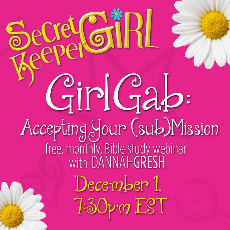 Secret Keeper Girl - Webinar