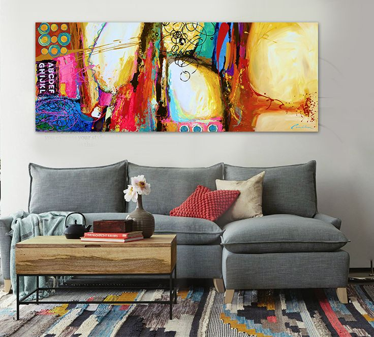 Attractive Find More Painting U0026 Calligraphy Information About Modern Abstract Painting  Of Red, Yellow And Blue Graffiti Painted Original Home Decor Office Walu2026