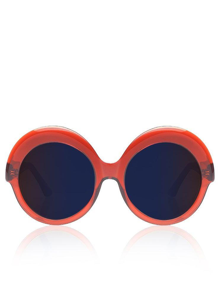 Burnt Orange Round Sunglasses | Cutler and Gross | Avenue32
